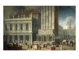 Venedig, die Loggetta des Sansovino Prints by Luca Carlevaris