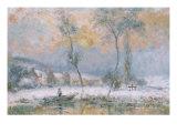 Lever du Soleil, par la Neige, sur L'Etang de Chalon-Moulineux Art by Albert Charles Lebourg
