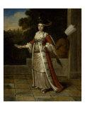 A Sultan with a Black Eunuch Kunstdruck von Jean Baptiste Vanmour