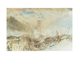 Eddystone Lighthouse off Plymouth Giclee Print by William Turner