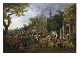 A Village Market Scene Posters by Peeter van Bredael