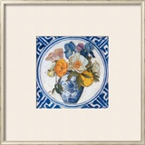 Flowers and Blue China IV Print by Walter Perugini