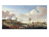 The Arrival of Catherine of Braganza at Portsmouth, 25 May 1662 Giclee Print by Dirck Stoop