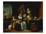 The Poultry Shop Giclee Print by Nicolaes Maes