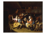Interior Tavern Scene with Figures Carousing, 1696 Giclee Print by Nicholas van Haeften