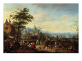 A Country Fair with Numerous Figures, 1715 Giclee Print by Jan Peeter van Bredael