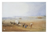 Beach Scene on the South Coast Giclee Print by J. M. W. Turner