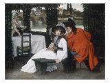 A Tryst at a Riverside Cafe, c.1869 Print by James Tissot