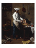 In the Kitchen Giclee Print by Theodule Ribot