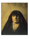 Portrait Head of an Old Woman, called 'Rembrandt's Mother', 1627 Posters