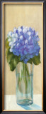 Purple Flowers in Blue Vase Posters by David Col