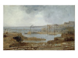 Construction of Seaham Harbour, 1829 Giclee Print by Robert Mackreth