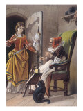 Sleeping Beauty: Aged 15, The Princess Meets an Old Woman Spinning Giclee Print by Carl Offterdinger