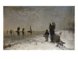 The Fisherman's Family Watching the Boats, 1879 Giclee Print by Firthofj Smith-Hald