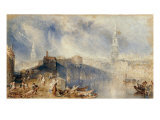 Inverness, from across the River Ness Posters by William Turner
