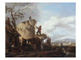 Harvest Scene Giclee Print by Philips Wouwermans Or Wouwerman