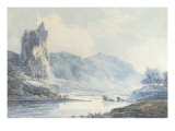Ilam Rock, Dovedale, Staffordshire Prints by J. M. W. Turner