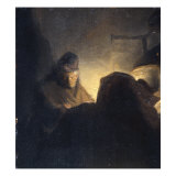 A Scholar in his Study Giclee Print by  Rembrandt van Rijn