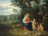 The Virgin and Child with Angels Giclee Print by Peeter van Avont