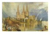 Lichfield, Staffordshire, c.1830-35 Posters by William Turner