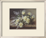 Still Life of Yellow Roses Print by Raoul Victor Maurice Maucherat de Longpre