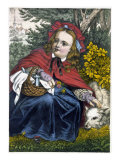 Red Riding Hood: 'Rothkaeppchen' Giclee Print by Fr. Wentzel