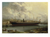 The SS 'Great Britain' leaving Cumberland Basin on her Maiden Voyage, 23rd January, 1845 Reproduction procédé giclée par Joseph Walter