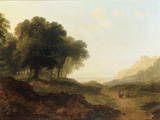Landscape with Figures on a Path Giclee Print by James Arthur O'Connor