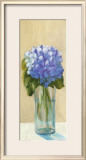 Purple Flowers in Blue Vase Prints by David Col