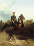 Sovereign Emperor Alexander II Alexandrovich in the Uniform of the Life Guard Hussar Regiment, 1873 Giclee Print by Nikolai Egorevich Sverchkov