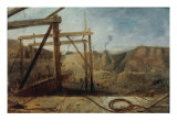 Construction of Seaham Harbour, 1830 Giclee Print by Robert Mackreth