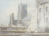 Ely Cathedral from the South-East, 1794 Print by William Turner