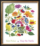 Trey the Turtle Prints by Kim Parker
