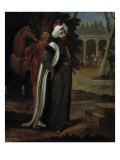 A Sultan with a Horse and a Page in the Second Court of the Seraglio Reproduction proc&#233;d&#233; gicl&#233;e par Jean Baptiste Vanmour