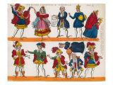 Cinderella, Paper theatre Giclee Print by John Redington