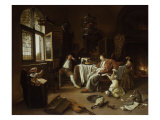 The Dissolute Household or the Effects of Intemperance Giclee Print by Jan Havicksz. Steen