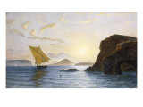 A View from Ischia Showing the Island of Procida, Vesuvius and Cape Miseno, Italy, 1890 Giclee Print by Berthoud Leon