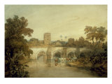 Bromfield on the River Onny, near Ludlow, Shropshire, 1798 Giclee Print by J. M. W. Turner