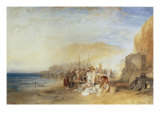 Hastings: Fish Market on the Sands, Early Morning, 1824 Prints by William Turner