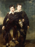 Portrait of Lionel and George Bonar Giclee Print by John Symen