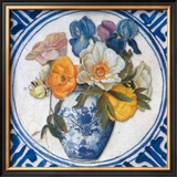 Flowers and Blue China IV Art by Walter Perugini