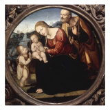 The Holy Family with the Infant St John the Baptist in a Landscape Giclee Print by  Il Sodoma