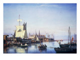 Elsinore Harbour, the Customs House and Kronborg Castle Beyond, 1859 Giclee Print by Carl Frederik Sorensen