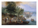 Landscape with Figures Giclee Print by Theobald Michau