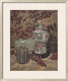 Eucalyptus with Lotus Vase Print by Francie Botke