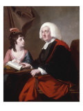 Portrait of the Revd. Thomas Wilson and his Adoptive Daughter Miss Mac-caulay Print by Joseph Wright of Derby