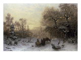 The Edge of the Forest, 1877 Giclee Print by Jacob Johan Silven