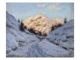 Snow-covered Mountain Range in Sunshine Art by Konstantin Alexandrovich Veshilov
