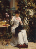 The Young Seamstress Giclee Print by Gustave Francois Lasellaz