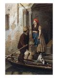 Courtship in Venice Giclee Print by Antonio Ermolao Paoletti